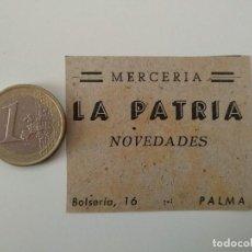Coleccionismo de Revistas y Periódicos: PUBLICIDAD REVISTA ORIGINAL 1949.MERCERIA LA PATRIA, PALMA MALLORCA. Lote 129645247