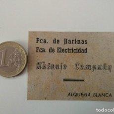 Coleccionismo de Revistas y Periódicos: PUBLICIDAD REVISTA ORIGINAL 1949. FABRICA HARINAS ANTONIO COMPAÑY, ALQUERIA BLANCA MALLORCA. Lote 129645583