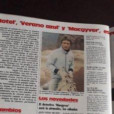 Coleccionismo de Revistas y Periódicos: RICHARD DEAN ANDERSON MACGYVER JUAN TAMARIT. Lote 129666863