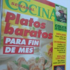 Coleccionismo de Revistas y Periódicos: COCINA SEMANAL Nº 87 28-11-1994. Lote 129748195