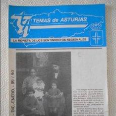 Coleccionismo de Revistas y Periódicos: TEMAS DE ASTURIAS. LA REVISTA DE LOS SENTIMIENTOS REGIONALES. Nº 50 / 51. ENERO 89 / 90. 42 PAGINAS.. Lote 129961179