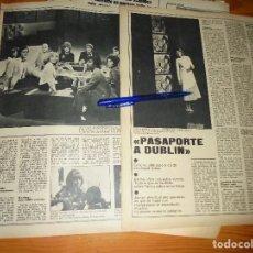 Coleccionismo de Revistas y Periódicos: RECORTE PRENSA : PASAPORTE A DUBLIN : KARINA, JUNIOR, DOVA... ACTUALIDAD, OCTBRE 1970. Lote 130054491