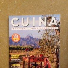 Coleccionismo de Revistas y Periódicos: CUINA 133 LA GUIA GORMANDA / BOTIGUES / RESTAURANTS / VINS / FORMATGES / FIRES I MERCATS. Lote 130085654