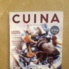 Coleccionismo de Revistas y Periódicos: CUINA 137 BOLETS / RECEPTES AMB CAFÈ / SUQUETS DE ROSES / EL SUQUET DE L'ALMIRALL. Lote 130086044