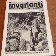 Coleccionismo de Revistas y Periódicos: INVARIANTI, Nº 26, 1995. PERIDICO POLÍTICO CULTURALE. PER DESCRIVERE LE TRASFORMAZIONI. ITALIA. Lote 130144135