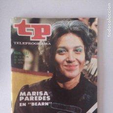 Coleccionismo de Revistas y Periódicos: REVISTA TP/TELEPROGRAMA/N'527. Lote 130259106