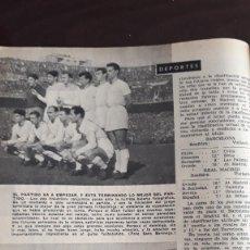 Coleccionismo de Revistas y Periódicos: 1959 FUTBOL REAL MADRID BARCELONA. Lote 130530922