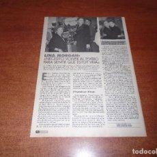 Coleccionismo de Revistas y Periódicos: RETAL PRENSA 1994: LINA MORGAN Y AMPARO LARRAÑAGA. Lote 130560554