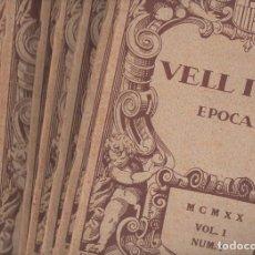Coleccionismo de Revistas y Periódicos: VELL I NOU REVISTA D'ART - 9 NÚMEROS AÑO COMPLETO 1920 - EN CATALÁN.. Lote 130586638