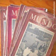 Coleccionismo de Revistas y Periódicos: MUNDO GRAFICO LOTE DE 18 REVISTAS DECADA DE LOS 40- SEGUNDA GUERRA MUNDIAL, POSTGUERRA ESPAÑA. Lote 130659503