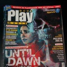 Coleccionismo de Revistas y Periódicos: REVISTA PLAYMANIA - NUMERO 201 -. Lote 130675394