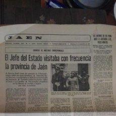 Coleccionismo de Revistas y Periódicos: PERIODICO JAEN 21 NOVIEMBRE 1976. Lote 130838548