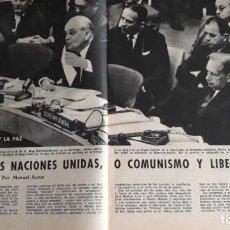 Coleccionismo de Revistas y Periódicos: 1961 RUSIA Y LAS NACIONES UNIDAS VESPA VESPACAR . Lote 131001324