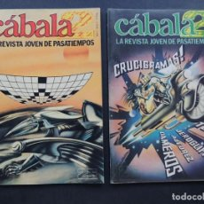 Coleccionismo de Revistas y Periódicos: CABALA 2 / 2 EJEMPLARES - Nº 1- 2 / REVISTA JOVEN DE PASATIEMPOS / ED. ZUGARTO AÑO 1979 / SIN USAR. Lote 131031300