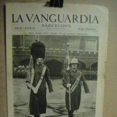 Coleccionismo de Revistas y Periódicos: LA VANGUARDIA NOTAS GRAFICAS AGOSTO 1935 - GUARDIA LONDINENSE , NATACION EN MONTJUICH , EL CAIRO. Lote 131032372