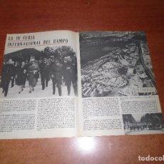 Coleccionismo de Revistas y Periódicos: RETAL 1959 FRANCO EN LA IV FERIA INTERNACIONAL DEL CAMPO. PARQUE SINDICAL PUERTA DE HIERRO.. Lote 131076324
