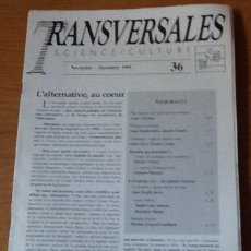 Coleccionismo de Revistas y Periódicos: TRANSVERSALES SCIENCE CULTURE,36, 1995. Lote 131112972