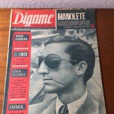 Coleccionismo de Revistas y Periódicos: REVISTA DÍGAME 1.443-1967. Lote 131121387