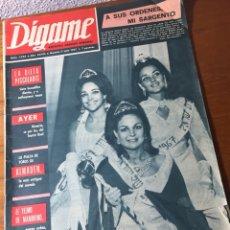 Coleccionismo de Revistas y Periódicos: REVISTA DÍGAME 1.436 1967. Lote 131121895