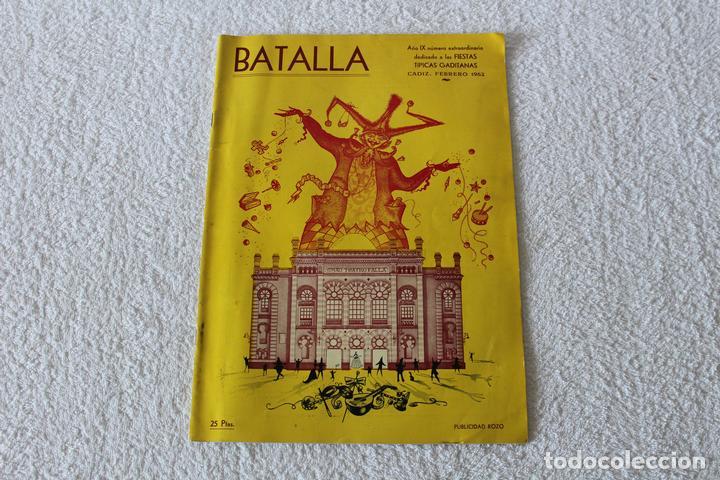 REVISTA BATALLA (CADIZ) FIESTAS TIPICAS GADITANAS 1962: MARISOL, LOLITA SEVILLA, CONCHITA VELASCO... (Coleccionismo - Revistas y Periódicos Modernos (a partir de 1.940) - Otros)