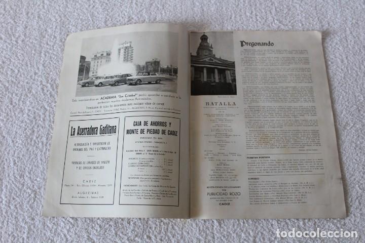 Coleccionismo de Revistas y Periódicos: REVISTA BATALLA (CADIZ) FIESTAS TIPICAS GADITANAS 1962: MARISOL, LOLITA SEVILLA, CONCHITA VELASCO... - Foto 2 - 131149208