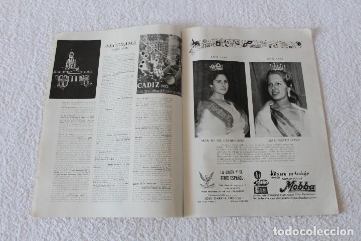 Coleccionismo de Revistas y Periódicos: REVISTA BATALLA (CADIZ) FIESTAS TIPICAS GADITANAS 1962: MARISOL, LOLITA SEVILLA, CONCHITA VELASCO... - Foto 4 - 131149208