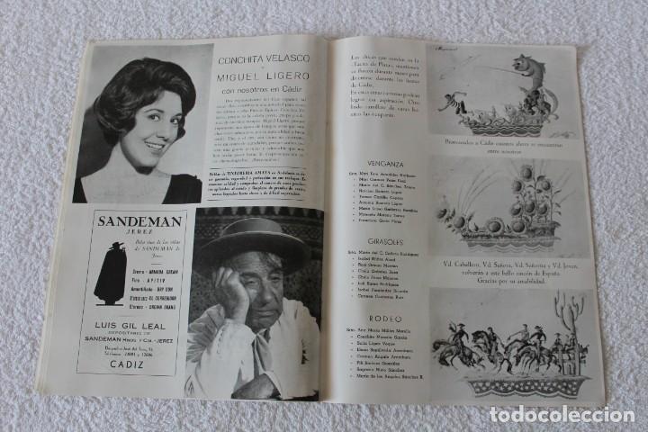 Coleccionismo de Revistas y Periódicos: REVISTA BATALLA (CADIZ) FIESTAS TIPICAS GADITANAS 1962: MARISOL, LOLITA SEVILLA, CONCHITA VELASCO... - Foto 7 - 131149208