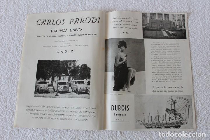 Coleccionismo de Revistas y Periódicos: REVISTA BATALLA (CADIZ) FIESTAS TIPICAS GADITANAS 1962: MARISOL, LOLITA SEVILLA, CONCHITA VELASCO... - Foto 8 - 131149208