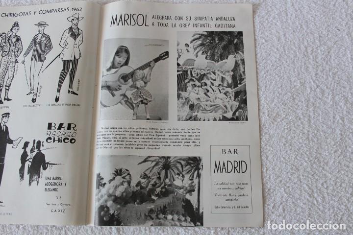 Coleccionismo de Revistas y Periódicos: REVISTA BATALLA (CADIZ) FIESTAS TIPICAS GADITANAS 1962: MARISOL, LOLITA SEVILLA, CONCHITA VELASCO... - Foto 9 - 131149208