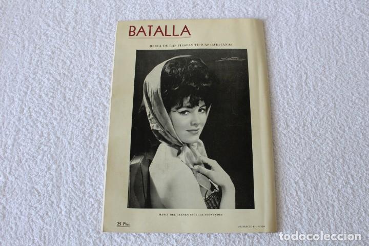 Coleccionismo de Revistas y Periódicos: REVISTA BATALLA (CADIZ) FIESTAS TIPICAS GADITANAS 1962: MARISOL, LOLITA SEVILLA, CONCHITA VELASCO... - Foto 12 - 131149208