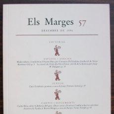 Coleccionismo de Revistas y Periódicos: ELS MARGES. REVISTA DE LLENGUA I LITERATURA. N 57. DESEMBRE DE 1996. Lote 131323606