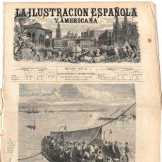 Coleccionismo de Revistas y Periódicos: LA ILUSTRACIÓN ESPAÑOLA Y AMERICANA GUERRA CARLISTA 1874 (8 MAR) MAPA, CASTRO URDIALES, PRIMO RIVERA. Lote 131345262