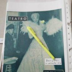 Coleccionismo de Revistas y Periódicos: JOSEFINA BAKER EN 1957 EN RECORTE (R4023) 1 PÁGINA REVISTA BLANCO Y NEGRO ESE AÑO. Lote 131413926