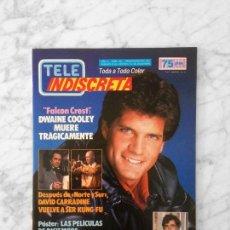 Coleccionismo de Revistas y Periódicos: TELE INDISCRETA - 1986 - DANIEL GREENE, FALCON CREST, CONCHA VELASCO, TOCATA, TERENCE HILL. Lote 131552482