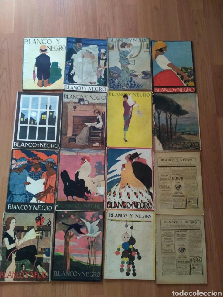 16 REVISTAS BLANCO Y NEGRO, AÑO 1923. PRECIO POR NÚMERO. PREGUNTAR POR LOTE. (Coleccionismo - Revistas y Periódicos Antiguos (hasta 1.939))
