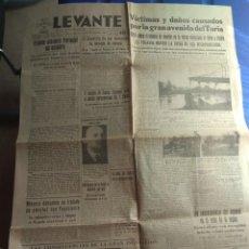 Coleccionismo de Revistas y Periódicos: DIARIO LEVANTE ÓRGANO DE FALANGE ESPAÑOLA - 30 SEPTIEMBRE 1949 - RIADA DE VALENCIA. Lote 131598606