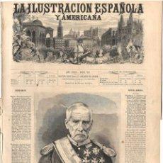 Coleccionismo de Revistas y Periódicos: LA ILUSTRACIÓN ESPAÑOLA Y AMERICANA GUERRA CARLISTA 1874 (22 FEB) VOLUNT CARLISTAS, MERCADO MADRID. Lote 131605378