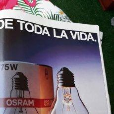 Coleccionismo de Revistas y Periódicos: ANUNCIO BOMBILLA OSRAM. Lote 179342428