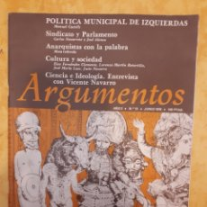 Coleccionismo de Revistas y Periódicos: REVISTA ARGUMENTOS N° 13. Lote 131769094