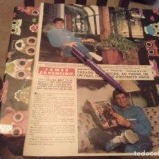 Colecionismo de Revistas e Jornais: ANTIGUO RECORTE REVISTA 1986 3 PAGINAS JAMES FARENTINO MEDICO DE LA SERIE DINASTIA. Lote 131865026