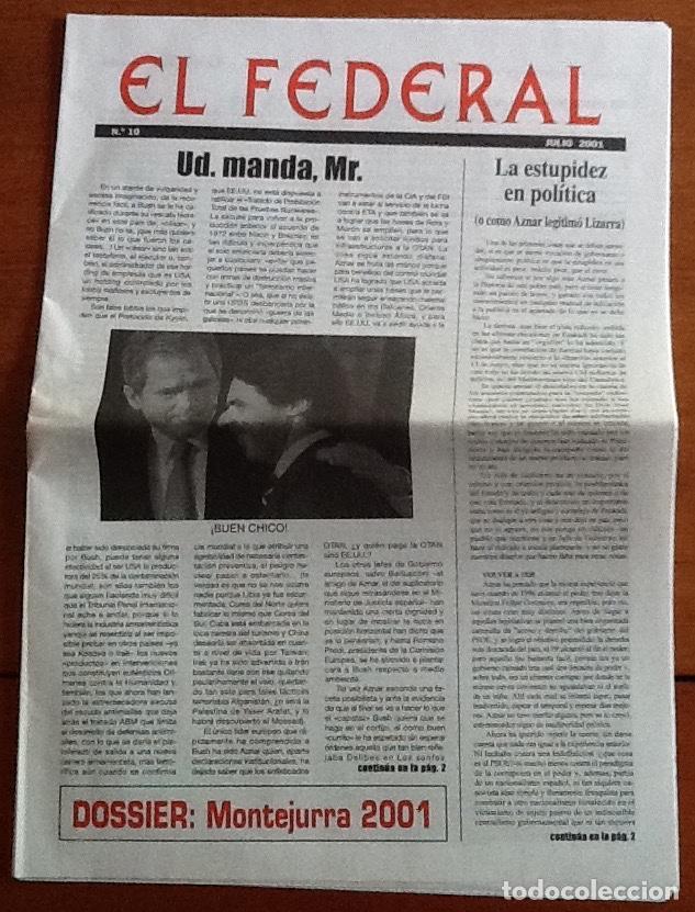 Coleccionismo de Revistas y Periódicos: El federal. Número 10, julio 2001. Partido Carlista - Foto 2 - 131881822