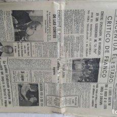Coleccionismo de Revistas y Periódicos: 13 EJEMPLARES-HERALDO DE ARAGON-MUERTE AGONÍA FRANCO-PROCLAMACIÓN REY- 19 NOVIEMBRE EN ADELANTE. Lote 131934790