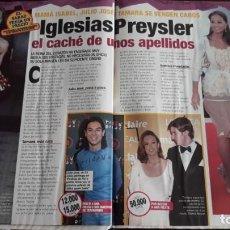 Coleccionismo de Revistas y Periódicos: ISABEL PREYSLER JULIO IGLESIAS JUNIOR . Lote 131953334