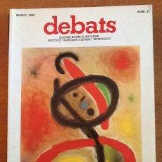 Coleccionismo de Revistas y Periódicos: REVISTA DEBATS. NÚMERO 27, MARZO 1989. MÁS ALLÁ DEL FEMINISMO.... Lote 131983894