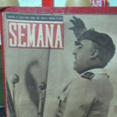 Coleccionismo de Revistas y Periódicos: REVISTA SEMANA 21 JULIO DE 1942 NUMERO 126 FIESTA DE 18 DE JULIO TZ. Lote 132045822
