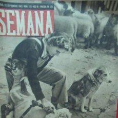 Coleccionismo de Revistas y Periódicos: REVISTA SEMANA 22 SEPTIEMBRE DE 1942 NUMERO 135 TZ. Lote 132045834