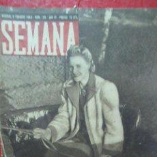Coleccionismo de Revistas y Periódicos: REVISTA SEMANA 9 FEBRERO DE 1943 NUMERO 155 DIVISION AZUL TZ. Lote 132045890