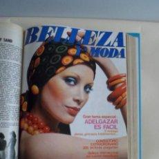 Colecionismo de Revistas e Jornais: 2 TOMOS REVISTA BELLEZA Y MODA. 1973-1974. Lote 132048874