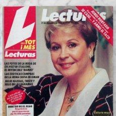 Coleccionismo de Revistas y Periódicos: LECTURAS - 1985 - LINA MORGAN, JULIO IGLESIAS, PALOMA SAN BASILIO, OLIVIA NEWTON-JOHN, J.M. SERRAT. Lote 97985967