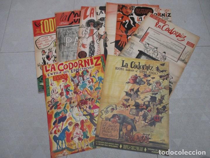 COLECCION LA CODORNIZ ORIGINALES - 9 EJEMPLARES + 3 EXTRAS AÑOS 70 (Coleccionismo - Revistas y Periódicos Modernos (a partir de 1.940) - Otros)